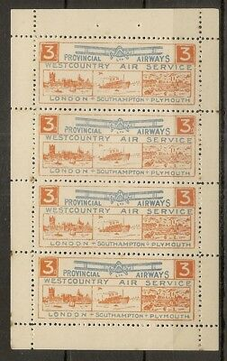 GB 1930's West Country Air Service MNH