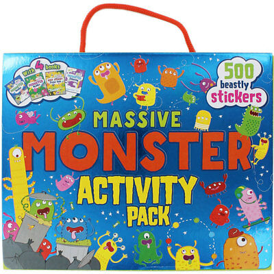 Massive Monster Activity Pack by Parragon (Paperback), Children's Books, New