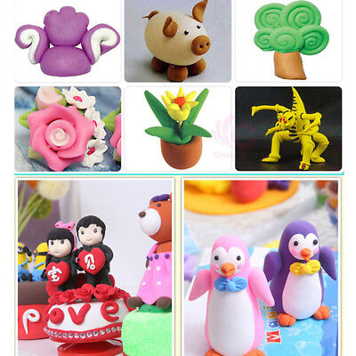 Mix Colors Oven Bake Polymer Clay Blocks Modelling Moulding Sculpey Soft Toy