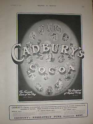 Cadbury's Cocoa East West Old Friends are Best 1903 old advert