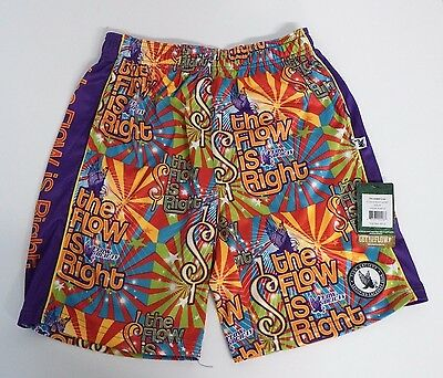 Youth Medium Flow Is Right  Mesh Athletic Shorts Purple Flow Society