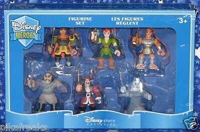 Disney Heroes Set of 6 PVC Figurines a Disney Store Exclusive Brand New MISP