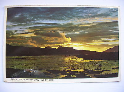 Broadford, Skye - sunset.   (1980)
