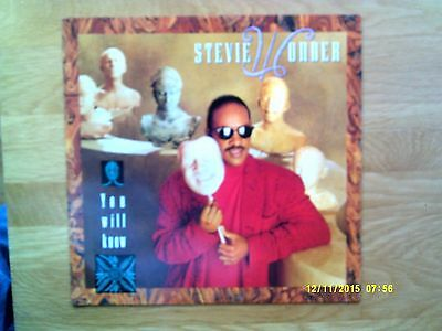 """Stevie Wonder You Will Know 12"""" Single 1987 N/mint"""