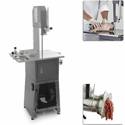 3/4HP Commercial Kitchen Standing Meat Butcher Saw Sausage Grinder Stuffer 550W