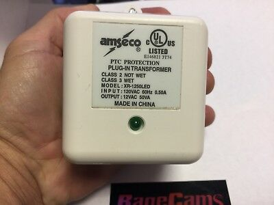 Amseco XR1250LED Plug In Transformer Power Supply 60HZ 12VAC 50VA