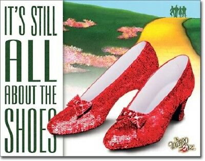 Wizard Of Oz: Ruby Slippers Metal/Tin Sign (SKU 1904)