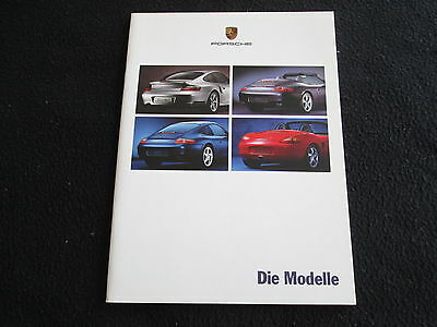 2000 Porsche German Brochure 996 Turbo Coupe 911 Carrera & 4 Cabriolet Boxster S