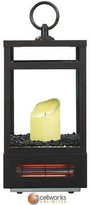 Duraflame - Lantern Infrared Heater - Bronze LED Flameless Candle W/ Remote