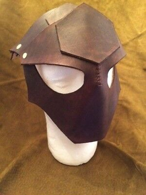 Brown Leather Gothic Mask (Adult Size XL)
