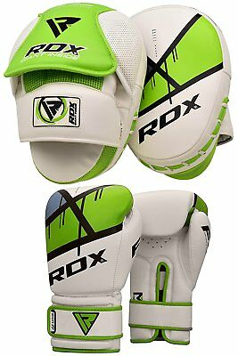 RDX Focus Pads With Boxing Gloves Hook and Jab MMA Kick Pad Punching Green
