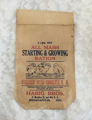 Vintage Chicken Chick Feed Bag - Indianapolis IN