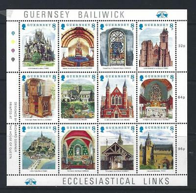 Guernsey 1988 Christmas Ecclesiastical Links Unmounted Mint, Mnh