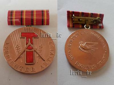 """East german Honor title """" Meritorious Activist """" medal construction of socialism"""