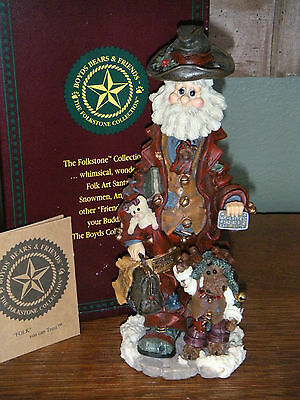 Boyds Bears Folkstone 1998  ~1E EXECUNICK...THE FIRST GLOBAL BUSINES MAN~