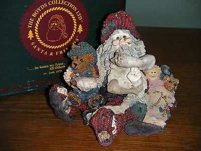Boyds Bears Santa & Friends ~1E SANTA'S FLIGHT PLAN~ STYLE #3000