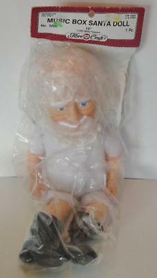"Fibre Craft 14"" MUSIC BOX SANTA Doll #3205 Brand New"