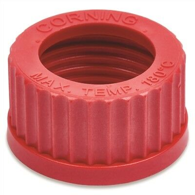 Corning #1395-45HTSC, GL45 Red Open Screw Cap (Single)