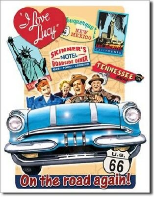 I Love Lucy: On the Road Again! Metal/Tin Sign (SKU 1378)