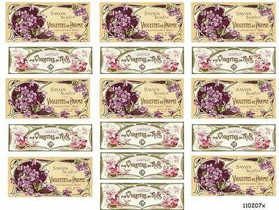 PinK & LaVenDeR VinTaGe FRenCh PerFuMe LaBeLs ShaBby WaTerSLiDe DeCALs