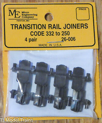 Micro Engineering, Inc. G #26006 Plastic-Insulated Transition Rail Joiners pkg8