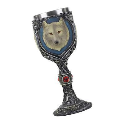 3D Gothic Wolf Pattern Stainless Goblet Wine Beer Decorative Cup Pub Craft
