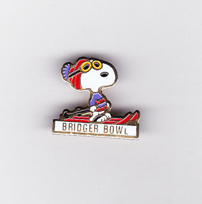 Snoopy Bridger Bowl, Montana Tack Type Pin