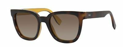1d39a0002d65d NEW FENDI FF 0121 S MFR HA Havana Brown Sunglasses -  249.99