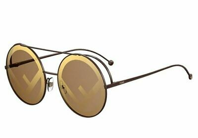 d9b2ebe9c16b NEW FENDI RUN AWAY FF 0285 S 09Q EB brown brown gold Sunglasses ...