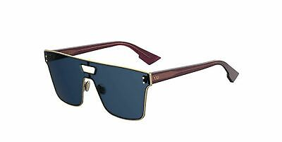 568f070286 New Christian Dior DIORIZON 1 NOA A9 Gold Burgundy Blue Sunglasses