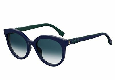 Blue 56 NEW 00 Ff Pjp08 FENDI Dark 85 0268s Blue SUNGLASSES rX7x8wX