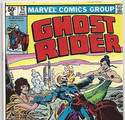 Marvel Comics Ghost Rider #52 Sirens of Kronos! Jan. 1981 in VG/F Condition NS