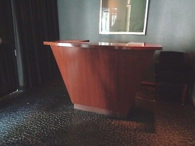 """Restaurant Hostess Wood Stand Table Desk 60"""" x 30"""" and 42"""" High"""