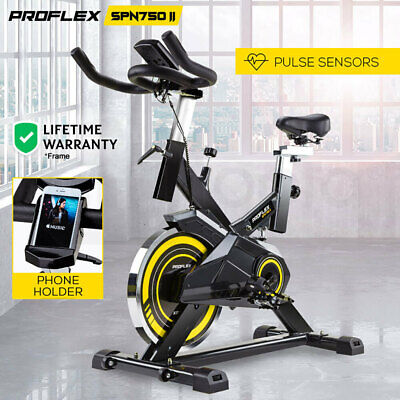 NEW PROFLEX Spin Bike Flywheel Commercial Gym Exercise Home Fitness Yellow