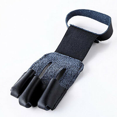 Archery 3 Finger Hand Protect Glove Draw Bow Arm Guard Arrow Shooting Glove New