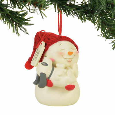 Department 56 Snowpinions New 2017 ASPIRING DOG OWNER Snowman Ornament 4057411
