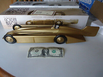 "Schylling 20"" tin wind-up Golden Arrow car mib race car"