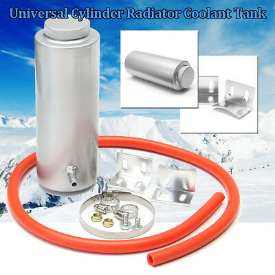 800ml Cylinder Radiator Overflow Reservoir Coolant Cooling Aluminum Tank Can