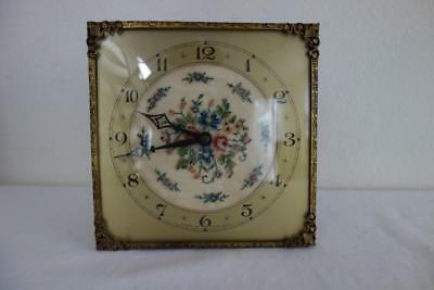Very Pretty Petite Point Vintage Clock Not Working