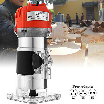 600W 220V 0.25''  Electric Hand Trimmer Wood Laminate Palm Router Joiners Tool