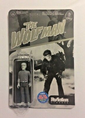 """Funko Reaction Super7 Black & White The Wolfman 3.75"""" Action Figure 2015 NYCC"""