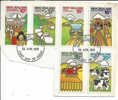 First Day Cover New Zealand 1978 Agriculture Cut out on paper