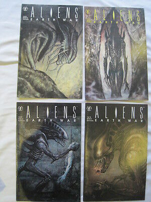 ALIENS : EARTH WAR COMPLETE 4 ISSUE SERIES by VERHEIDEN & SAM KEITH.D HORSE.1990