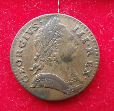 1773 Farthing George III Copper Britiish Coins Superb condition see pics