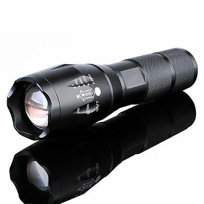 1pc XM-L T6 10000Lumens Zoomable Tactical military LED18650 Flashlight Torch LAD