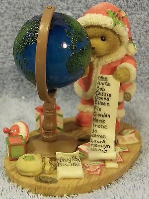 Stanley Santa Finding Out Who's Been Naughty Nice Cherished Teddies NIB CCOA