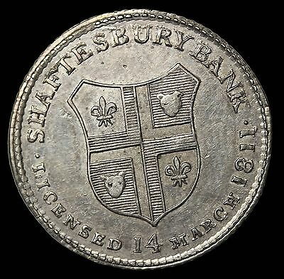 1811 Great Britain Dorset Shaftsbury Bank Sixpence Silver Conder Token D&H-28