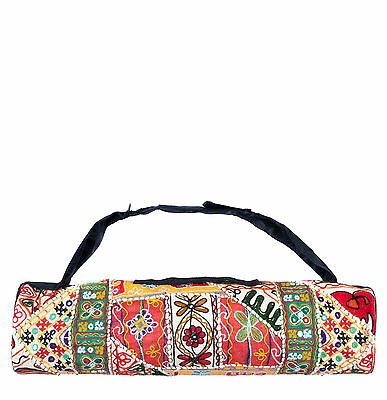 Yogamasti Toran Yoga Mat Carrier Bag embroidered tapestry *BNWT*