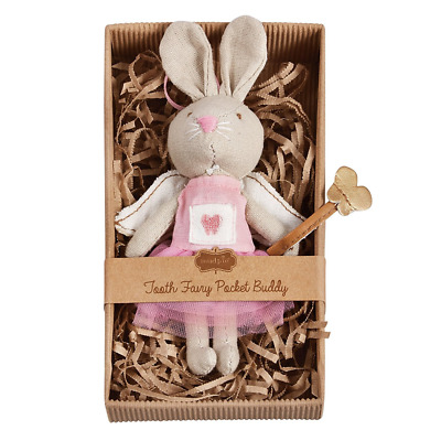 Mud Pie Little Girl Mini Tooth Fairy Bunny Hangs with grosgrain ribbon NEW
