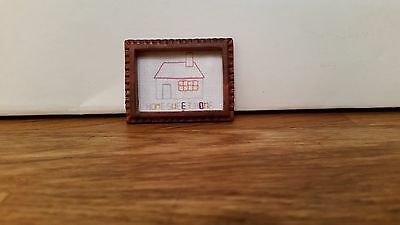 Dolls House 1/12  Nursery Framed Picture
